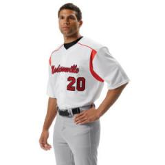 Youth Baseball Jersey: 100% Polyester 12oz double