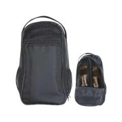 Rip-stop nylon / leatherette utility shoe bag with