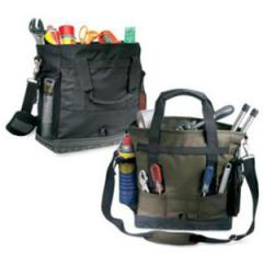 Tool bag with adjustable, detachable shoulder