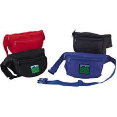 Three pocket fanny pack with three zippered