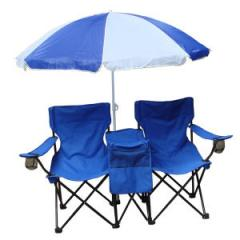 Umbrella Chair Two person chair set with umbrella